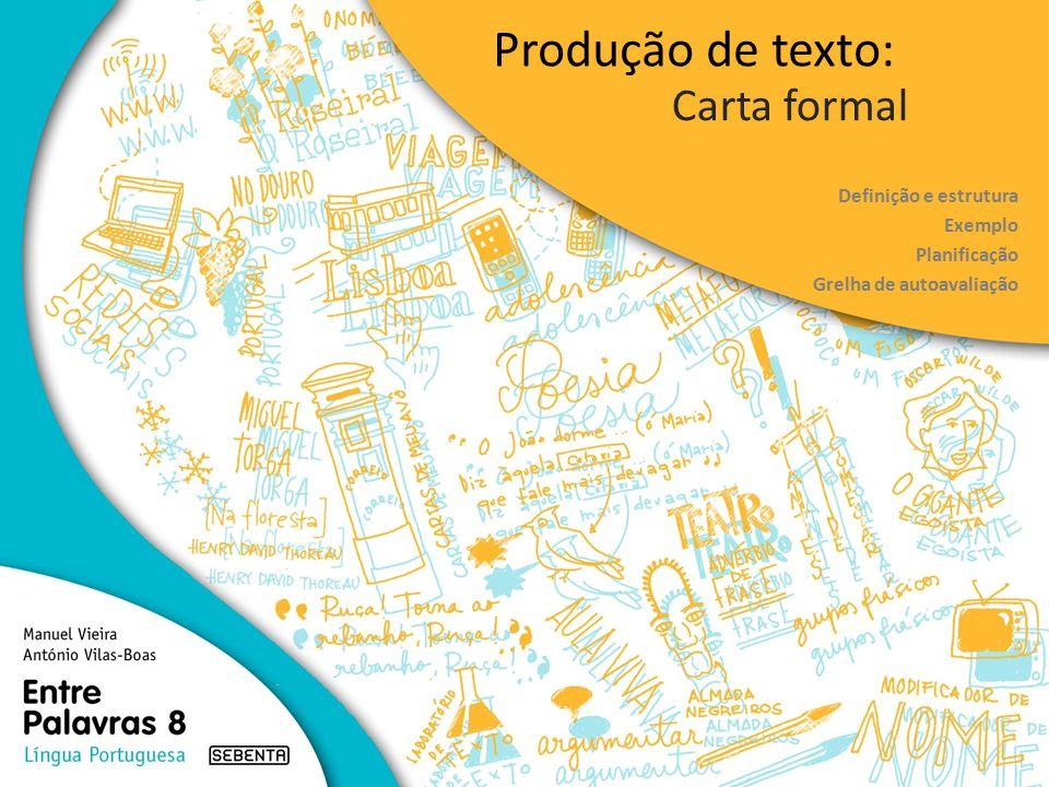 Produção de texto: Carta formal Definição e estrutura Exemplo