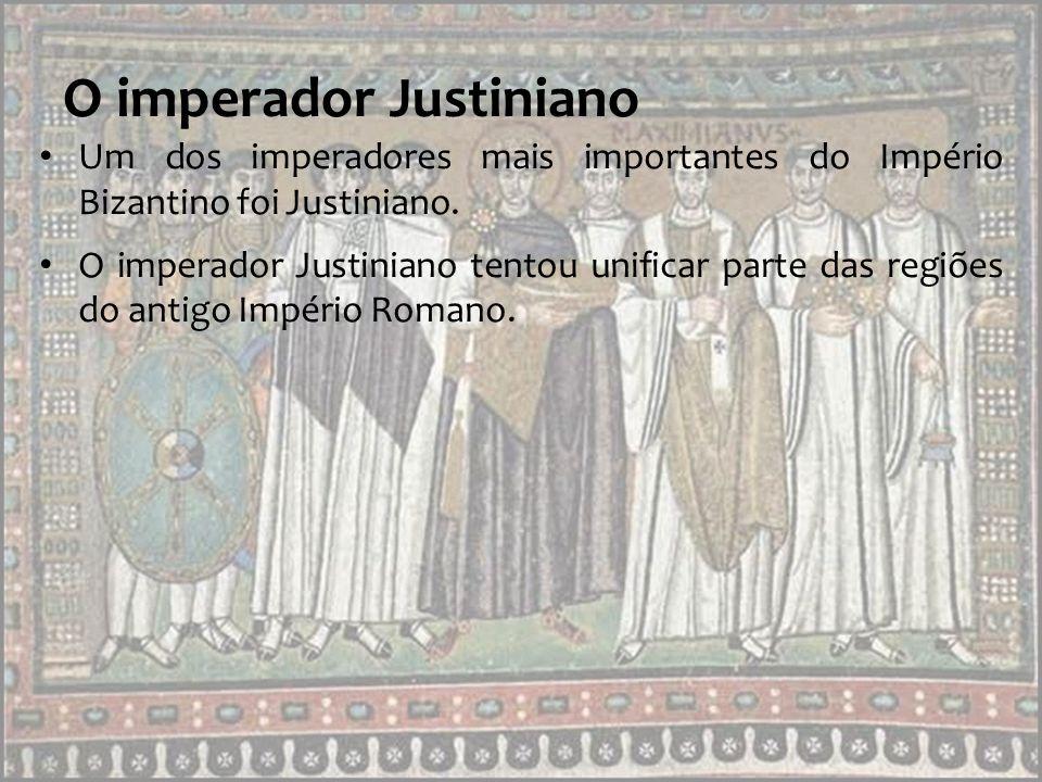 O imperador Justiniano