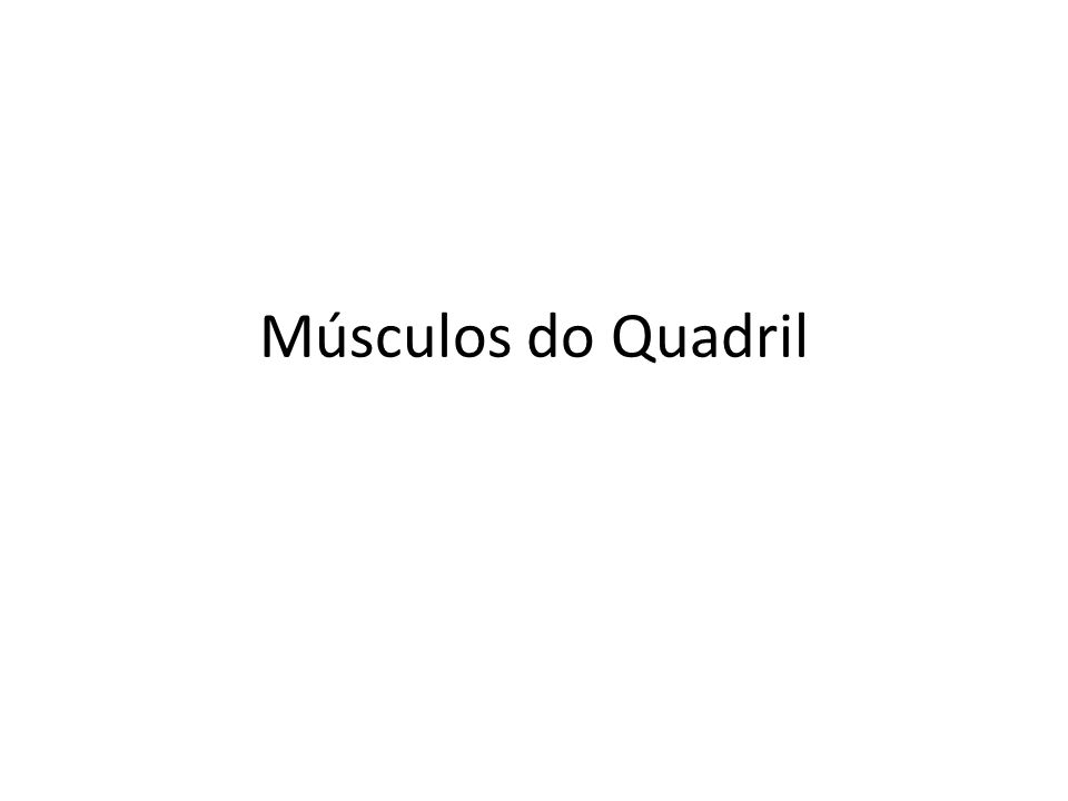 Músculos do Quadril