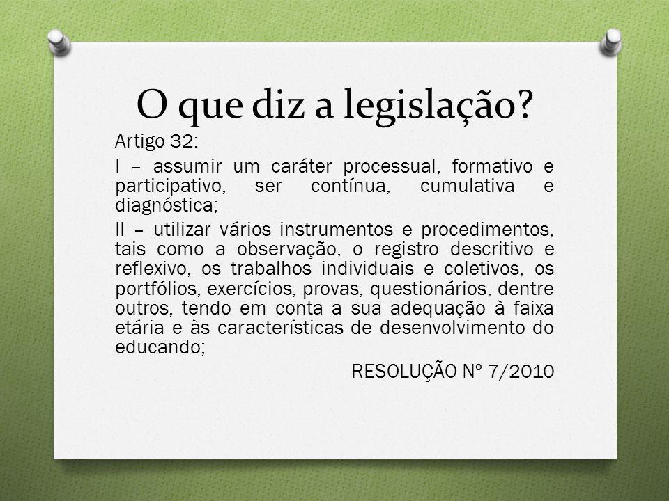 O que diz a legislação