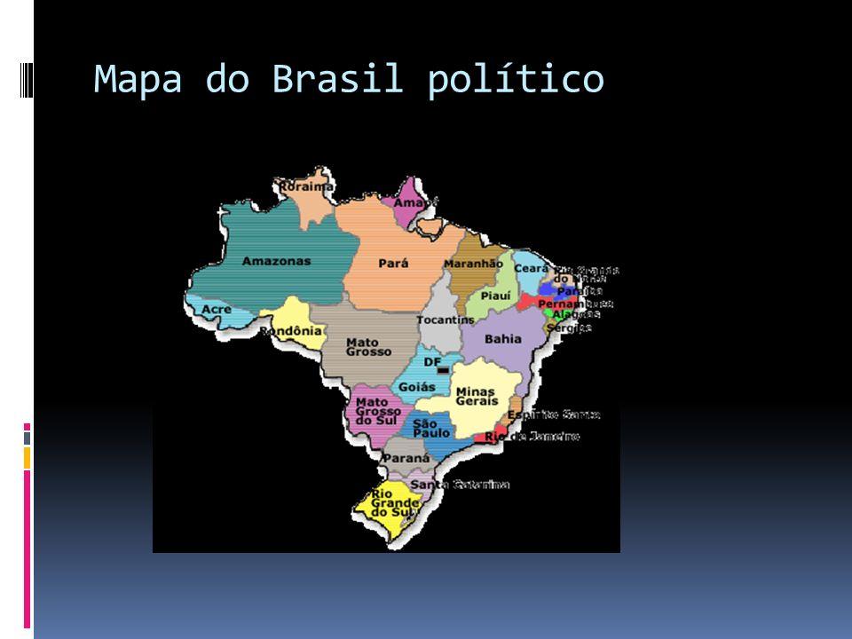 Mapa do Brasil político