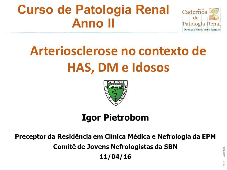 Curso de Patologia Renal Anno II