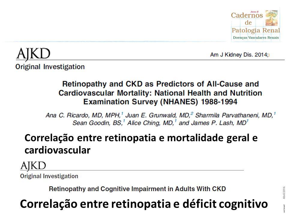 Correlação entre retinopatia e déficit cognitivo