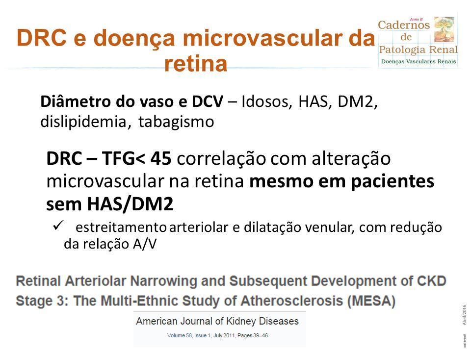 DRC e doença microvascular da retina