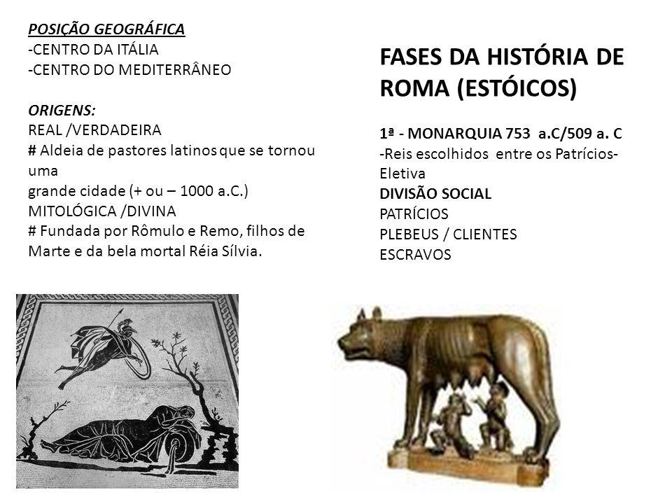 FASES DA HISTÓRIA DE ROMA (ESTÓICOS)