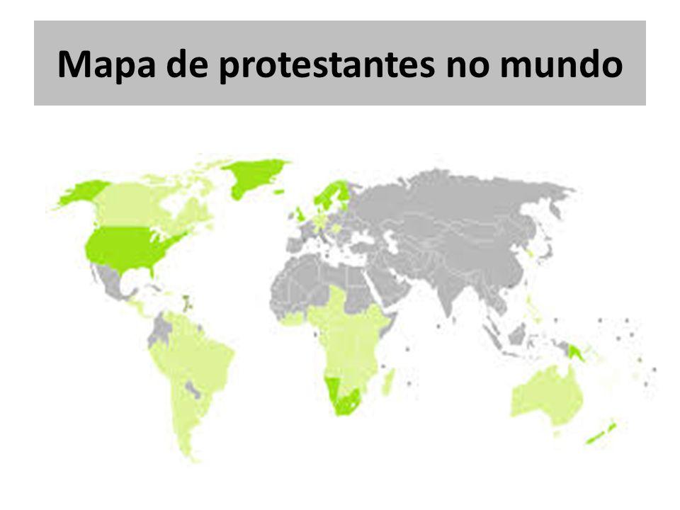 Mapa de protestantes no mundo