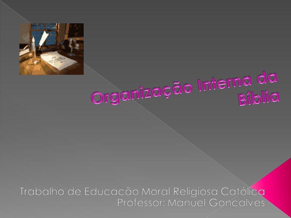 Organização Interna da Bíblia