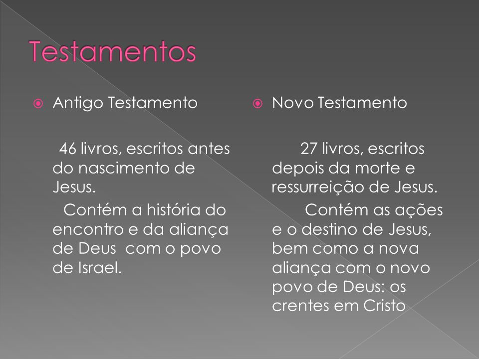 Testamentos Antigo Testamento