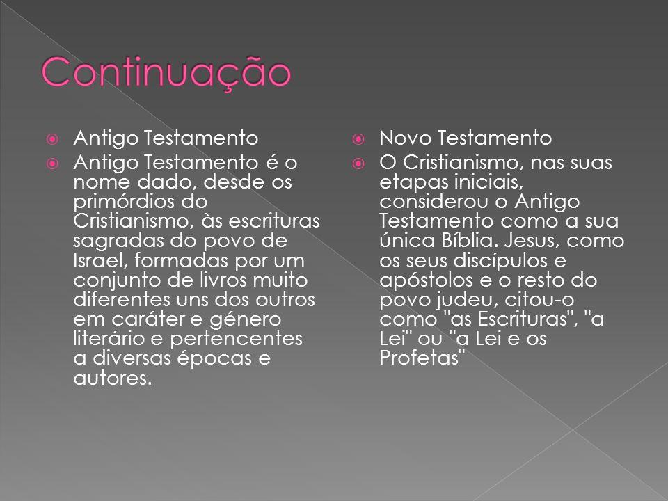 Continuação Antigo Testamento