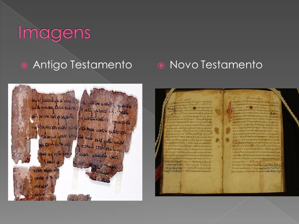 Imagens Antigo Testamento Novo Testamento
