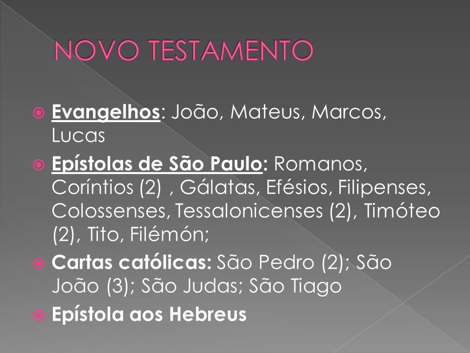 NOVO TESTAMENTO Evangelhos: João, Mateus, Marcos, Lucas