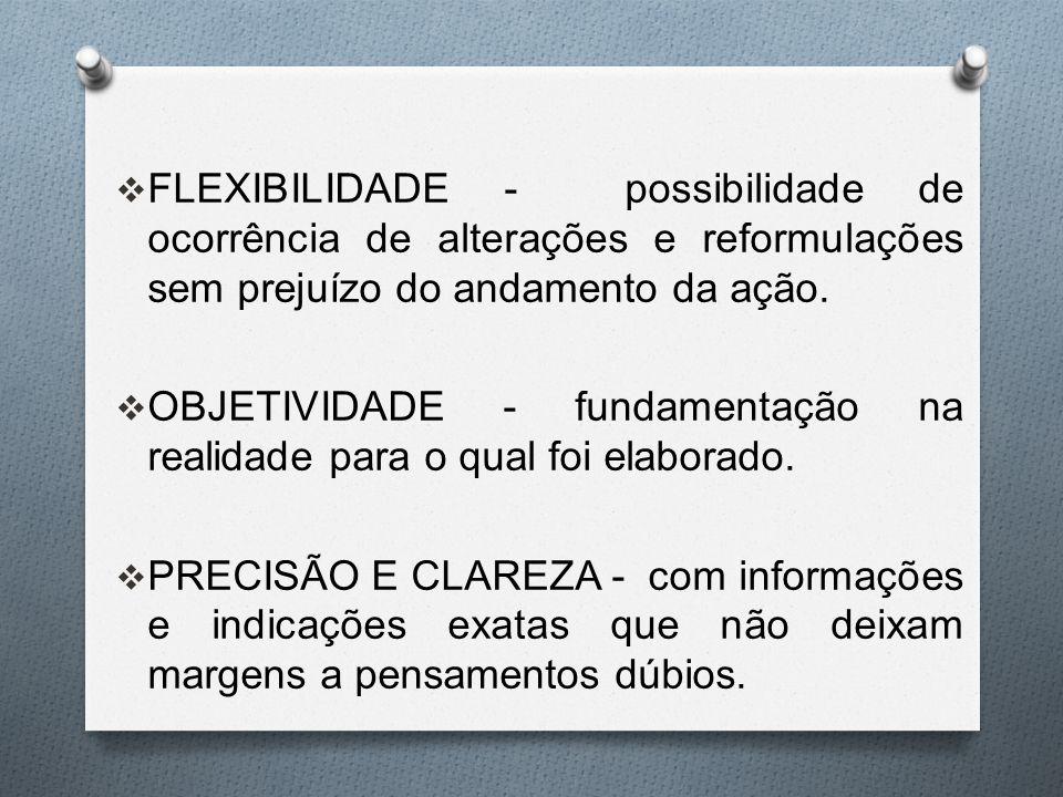 FLEXIBILIDADE - possibilidade de ocorrência de alterações e reformulações sem prejuízo do andamento da ação.