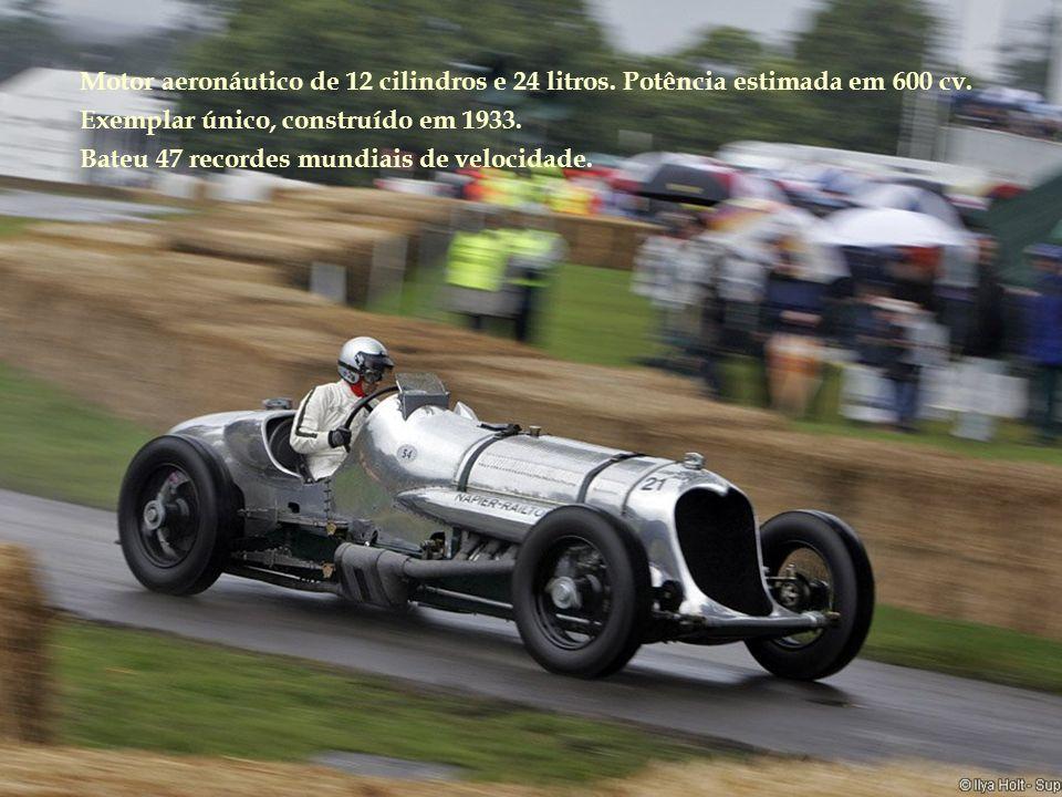 Motor aeronáutico de 12 cilindros e 24 litros