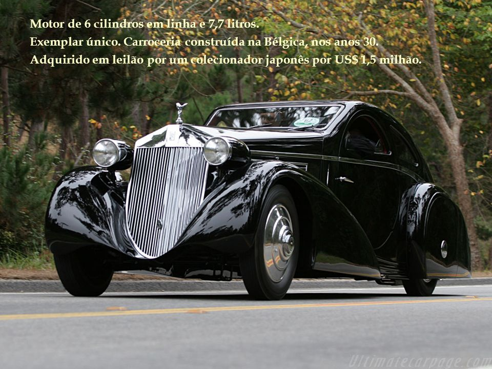Motor de 6 cilindros em linha e 7,7 litros.