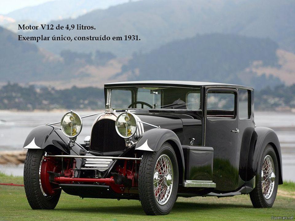 Motor V12 de 4,9 litros. Exemplar único, construído em 1931.