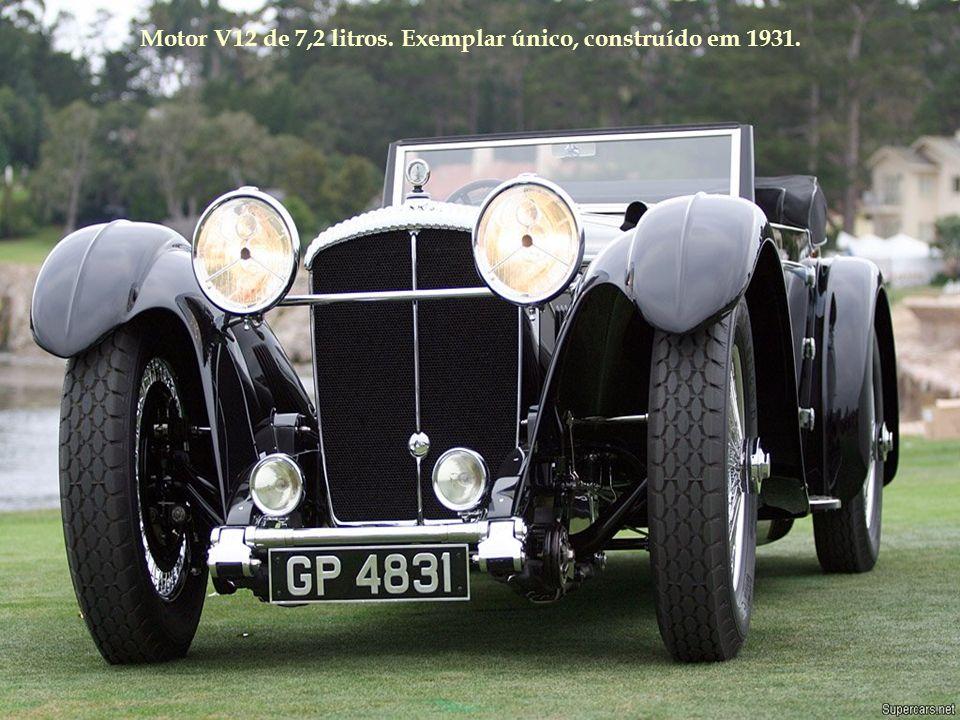 Motor V12 de 7,2 litros. Exemplar único, construído em 1931.