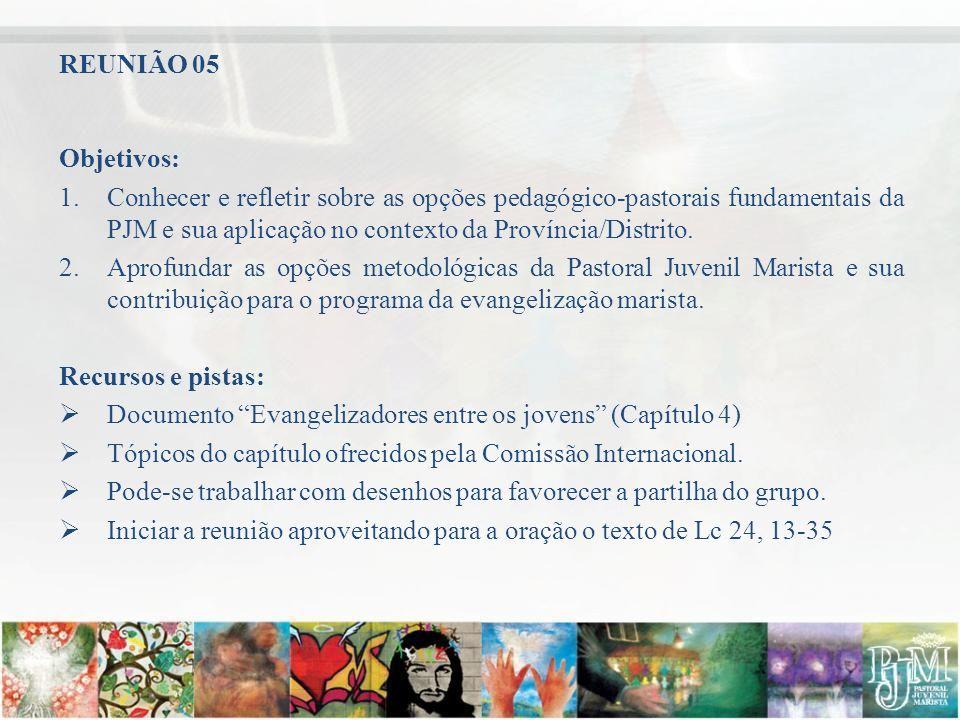 REUNIÃO 05 Objetivos: