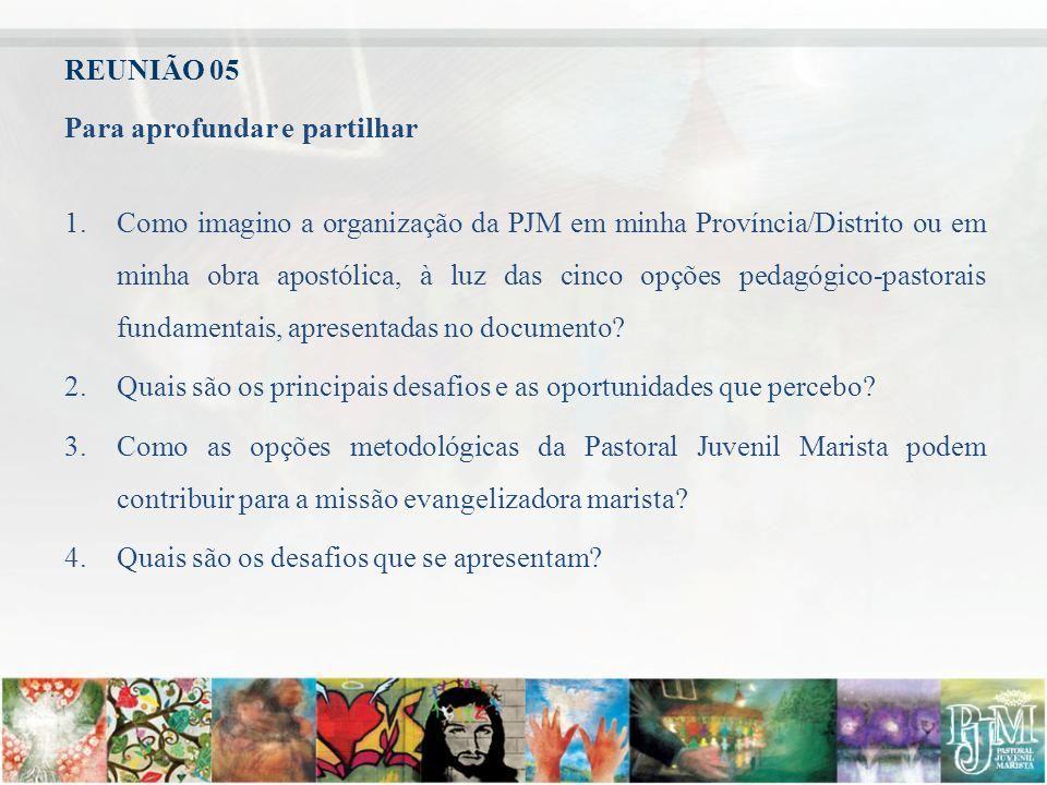REUNIÃO 05 Para aprofundar e partilhar.