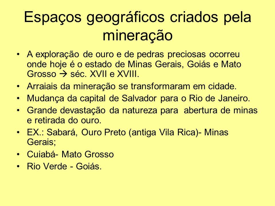 Espaços geográficos criados pela mineração