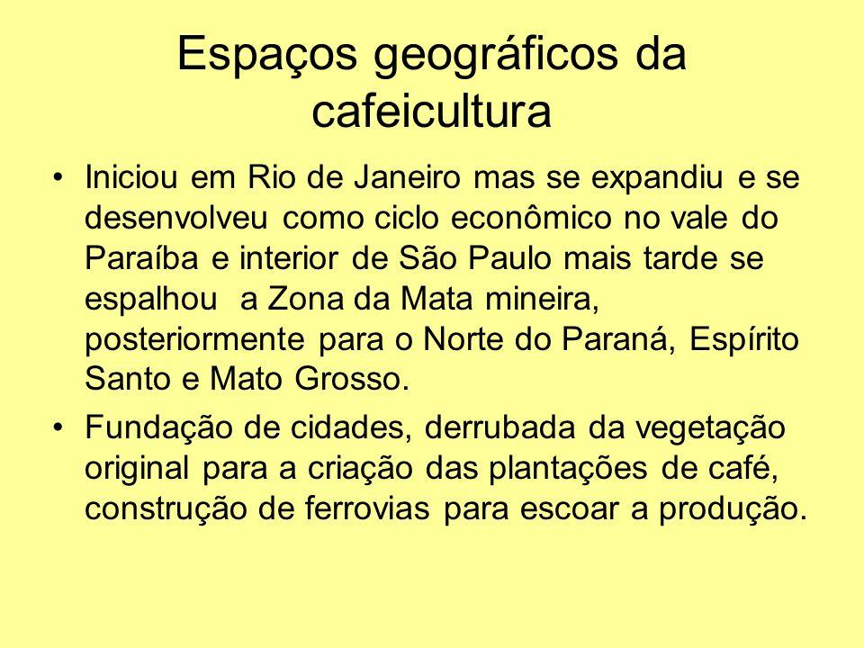 Espaços geográficos da cafeicultura