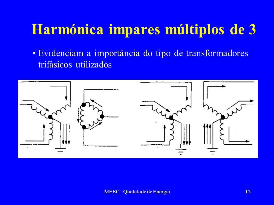 Harmónica impares múltiplos de 3