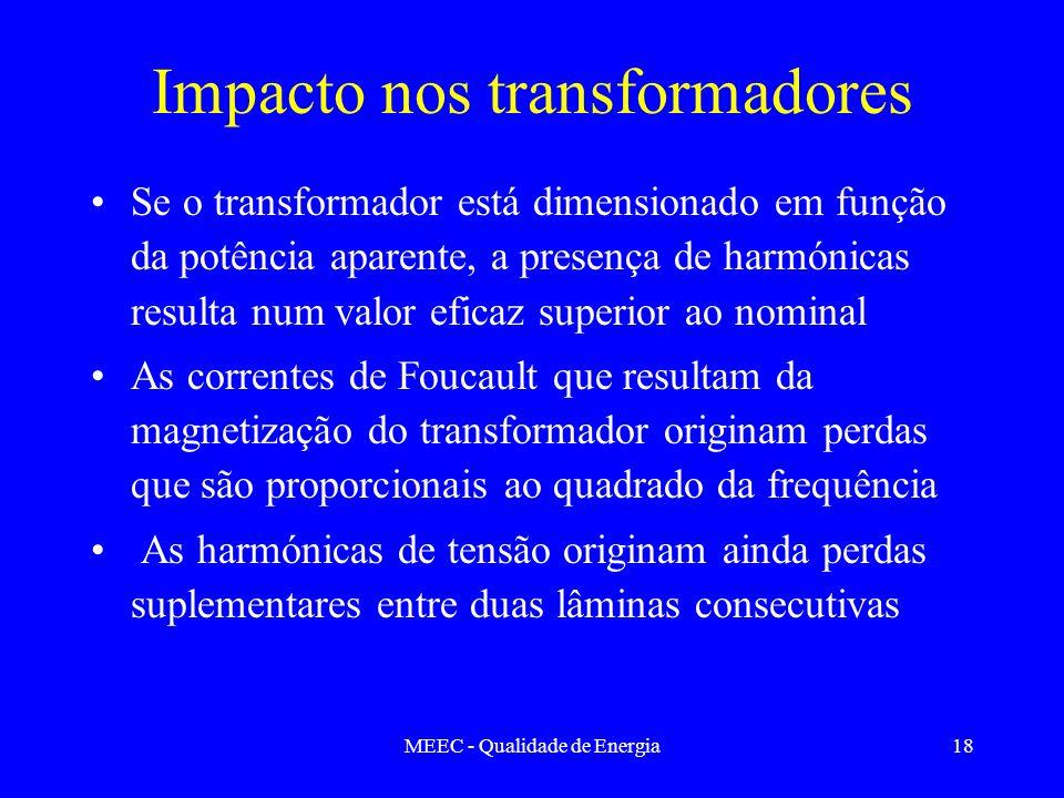 Impacto nos transformadores
