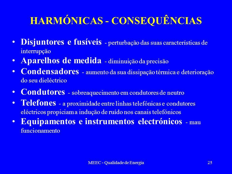 HARMÓNICAS - CONSEQUÊNCIAS