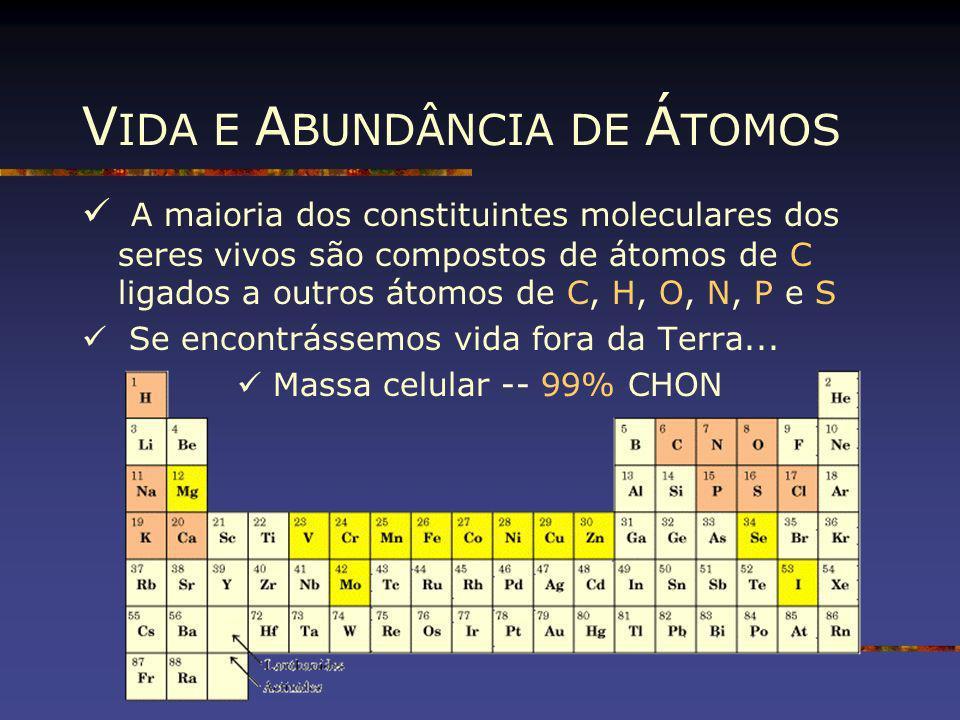 VIDA E ABUNDÂNCIA DE ÁTOMOS