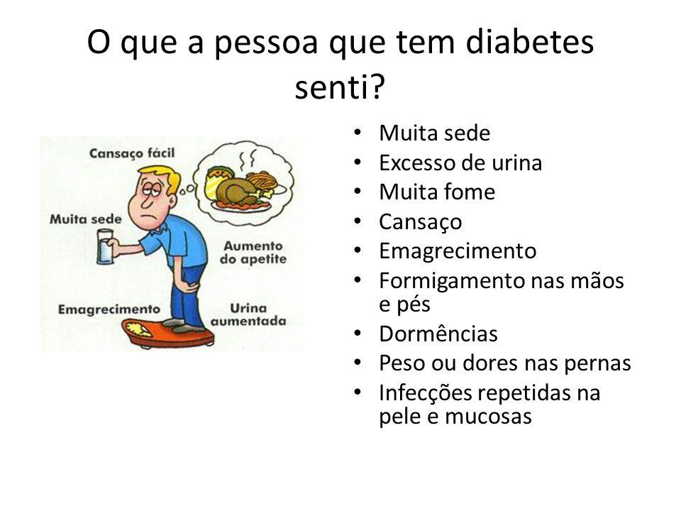 O que a pessoa que tem diabetes senti