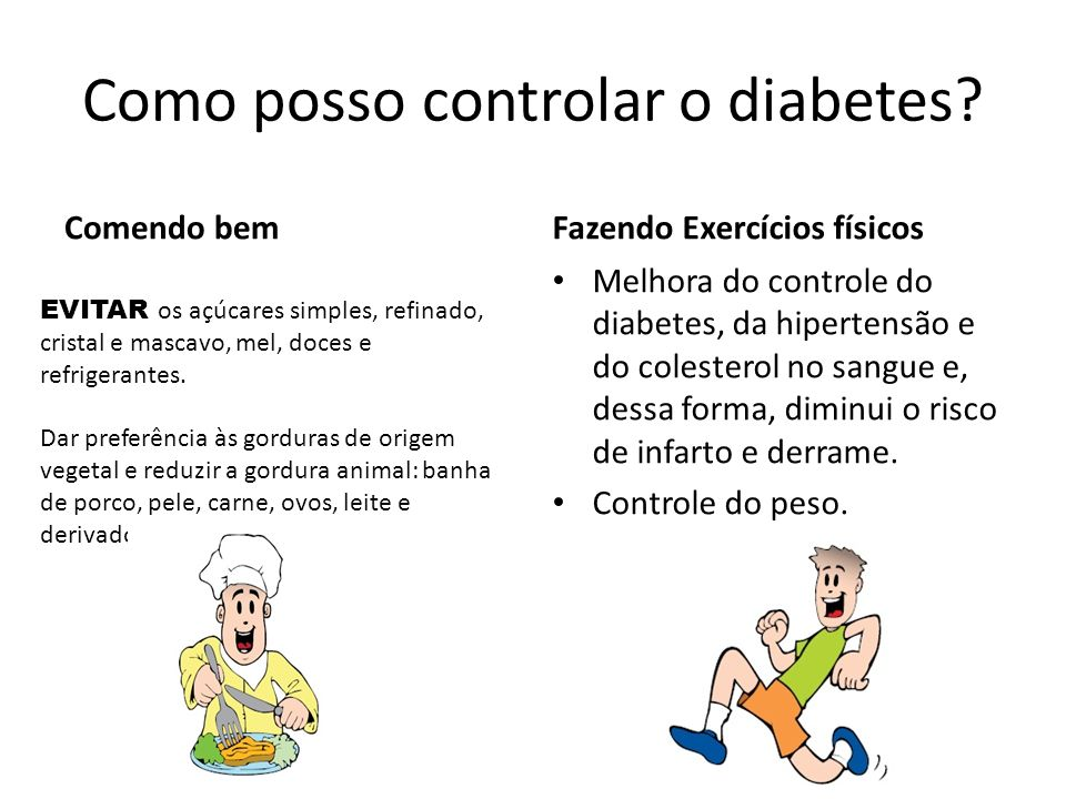 Como posso controlar o diabetes