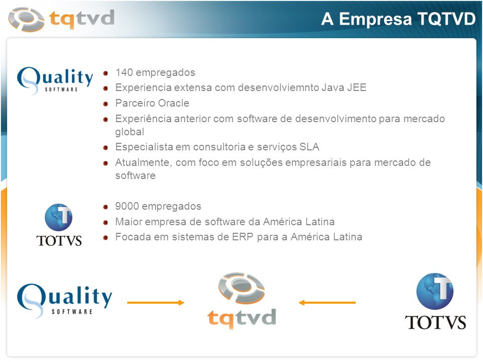 A Empresa TQTVD 140 empregados