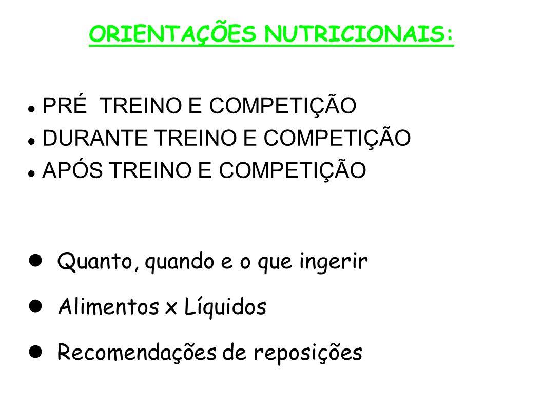 ORIENTAÇÕES NUTRICIONAIS: