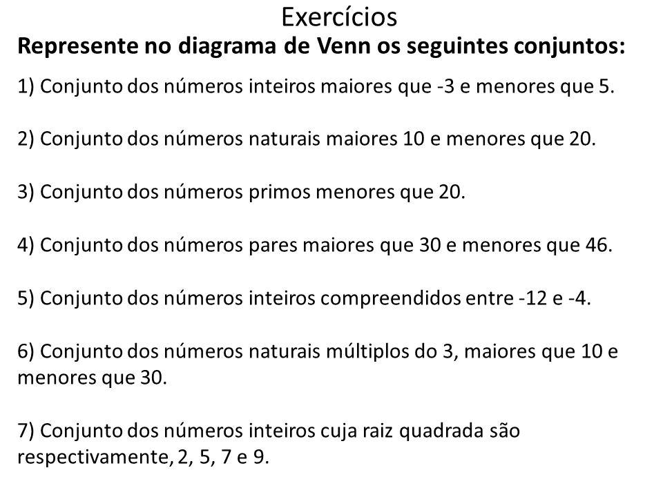 Conjuntos ppt carregar 25 exerccios represente no diagrama de venn ccuart Choice Image