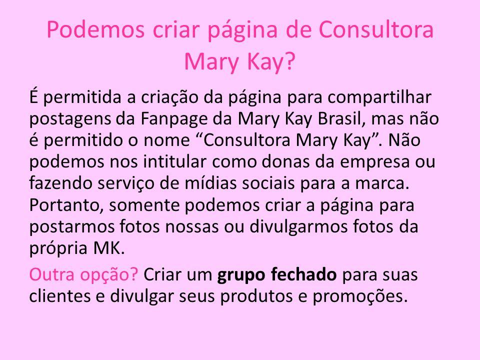 Podemos criar página de Consultora Mary Kay