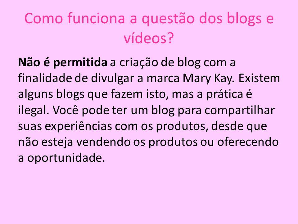 Como funciona a questão dos blogs e vídeos
