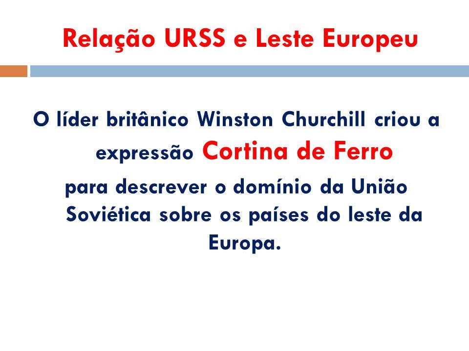 Relação URSS e Leste Europeu