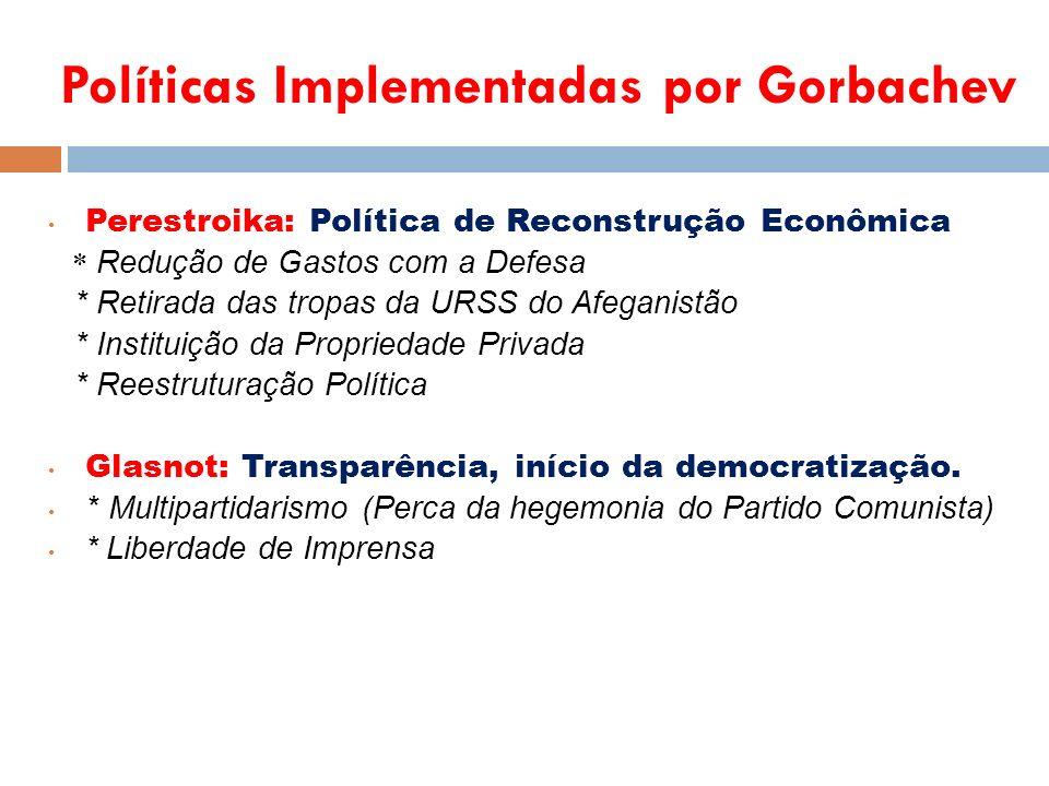 Políticas Implementadas por Gorbachev