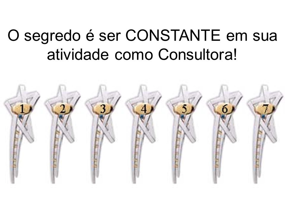 O segredo é ser CONSTANTE em sua atividade como Consultora!