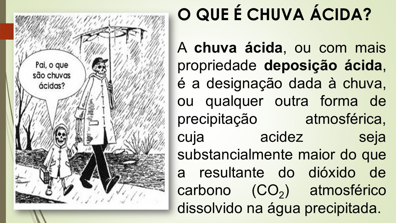 Chuva cida ppt video online carregar for O que e portador