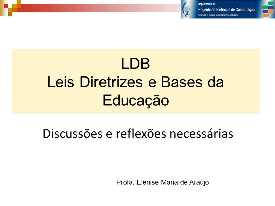 LDB Leis Diretrizes e Bases da Educação