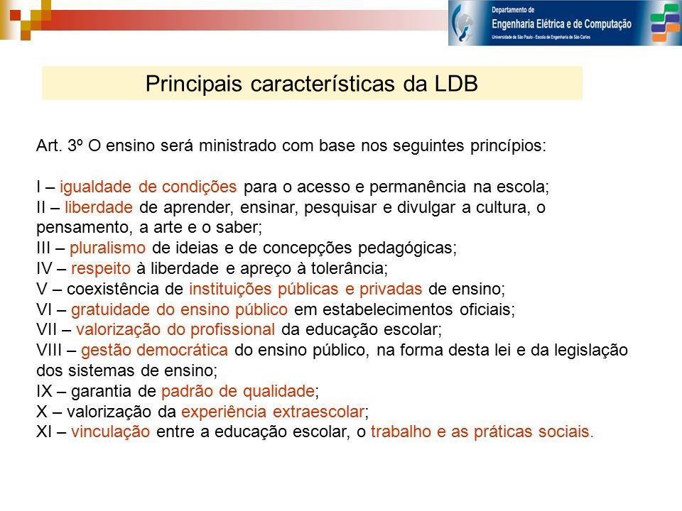 Principais características da LDB