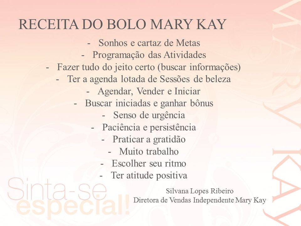 RECEITA DO BOLO MARY KAY