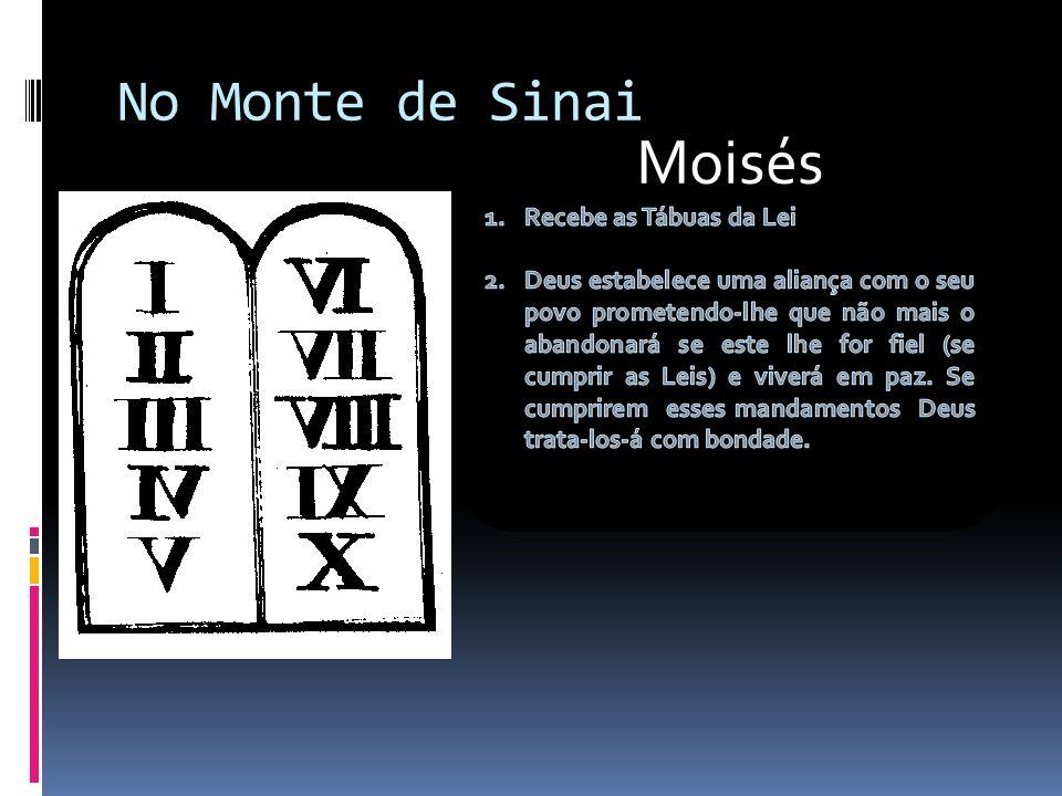 Moisés No Monte de Sinai Recebe as Tábuas da Lei