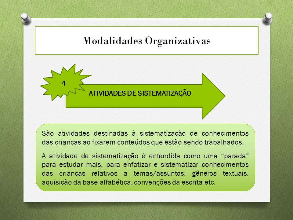 Modalidades Organizativas