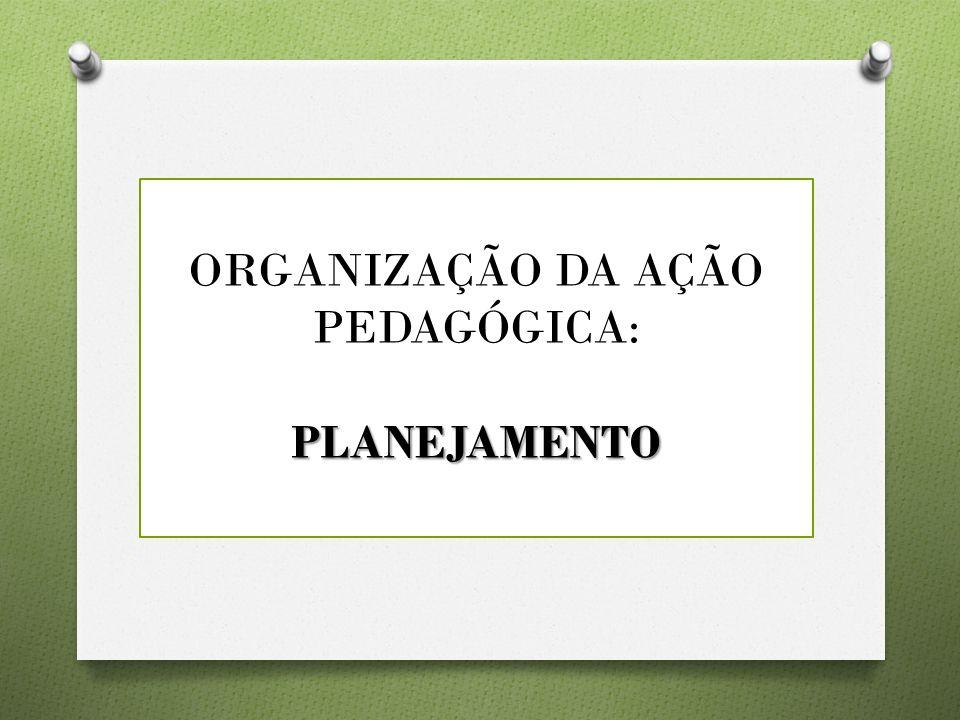 ORGANIZAÇÃO DA AÇÃO PEDAGÓGICA: