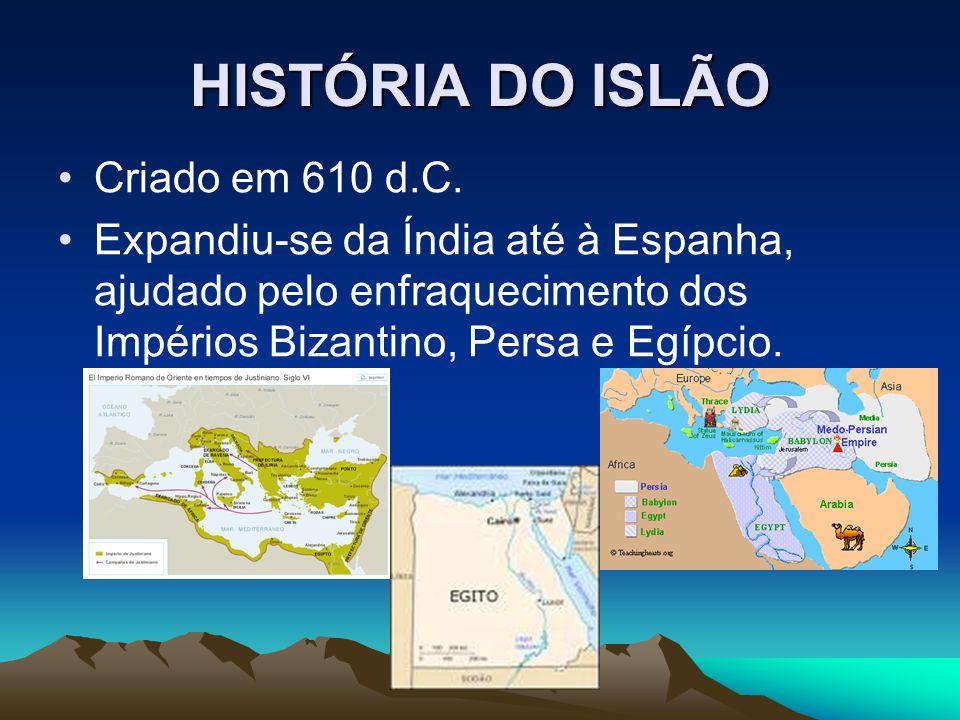 HISTÓRIA DO ISLÃO Criado em 610 d.C.