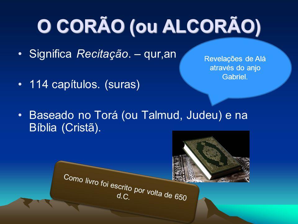 O CORÃO (ou ALCORÃO) Significa Recitação. – qur,an