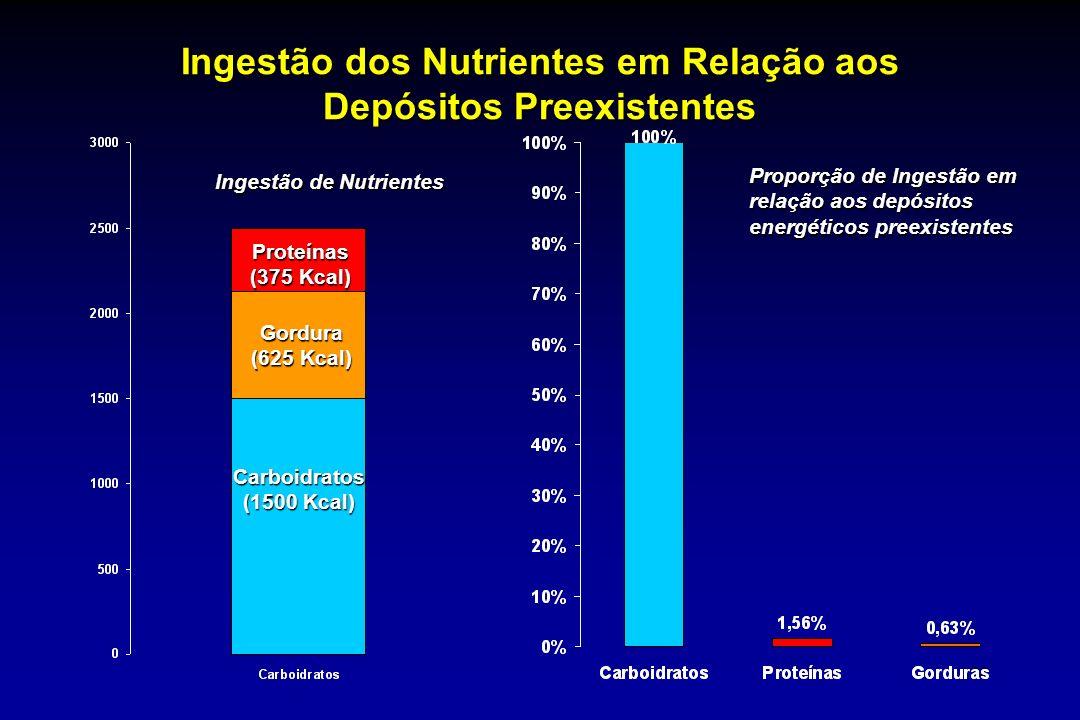Ingestão dos Nutrientes em Relação aos Depósitos Preexistentes