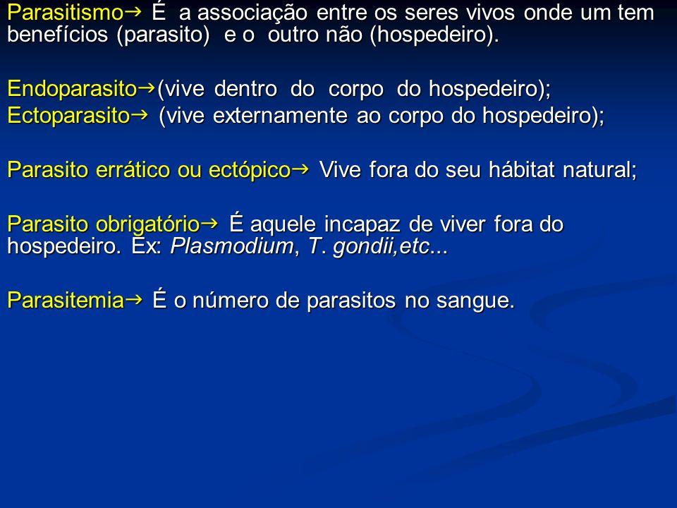 Parasitismo É a associação entre os seres vivos onde um tem benefícios (parasito) e o outro não (hospedeiro).