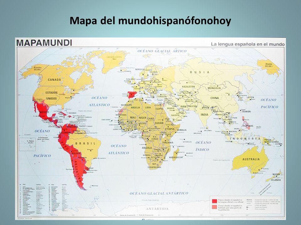 Mapa del mundohispanófonohoy